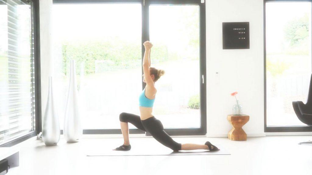 Yoga Asana, der Sprinter, JUMUUV